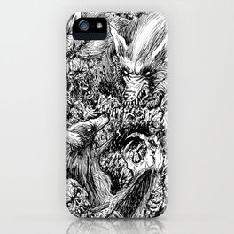 Werewolves Vs Zombies Undead Massacre Art iPhone Case