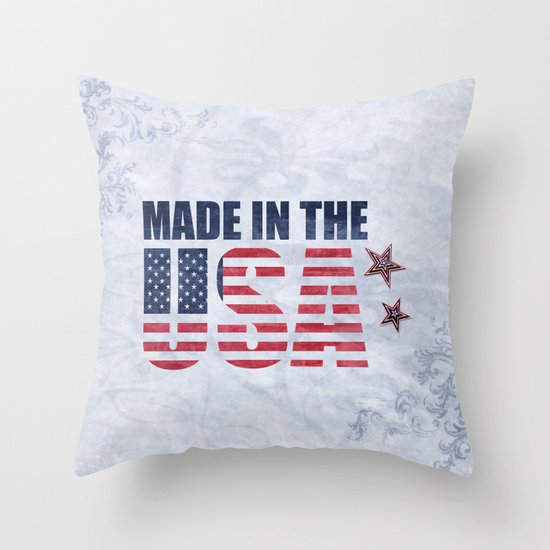 Decorative Pillows Made In Usa : Made In The USA Throw Pillow by Theresa Campbell D August Art Society6