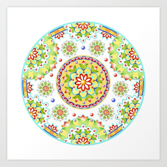 Kristofer's Mandala Art Print