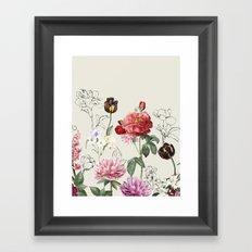 Flowers illustraion Framed Art Print