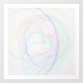 Zoomed Rings 3 Art Print