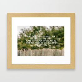 Jeremiah 29 11 Framed Art Print