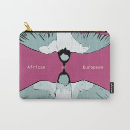 African or European swallows? Carry-All Pouch