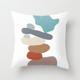 Stone Balancing 10 Throw Pillow