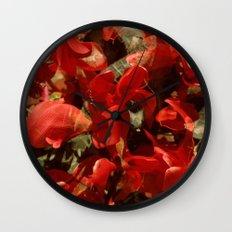Alpenveilchenmix 1 Wall Clock