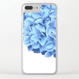 Hydrangea, Big blue flower Clear iPhone Case