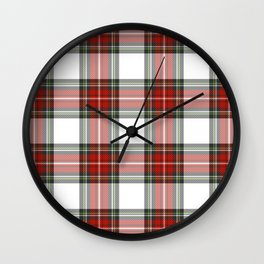 Christmas Tartan Plaid Wall Clock