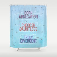 divergent Shower Curtains featuring Truly Divergent by Tiffany 10