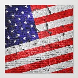 Vintage Patriotic American Flag Canvas Print