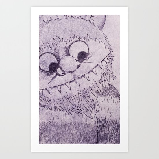 Wild Purple Art Print