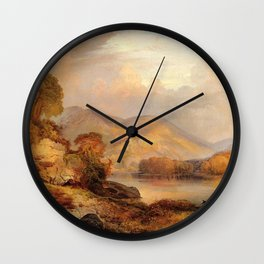 Autumn Landscape 1867 By Thomas Moran | Scenic Landscape Reproduction Wall Clock