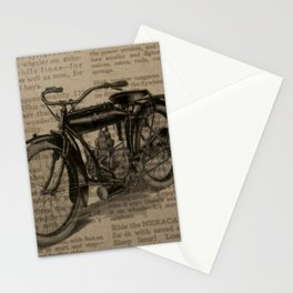 Steampunk Neck Gator Moped Motorized Bike Steam Punk Stationery Cards