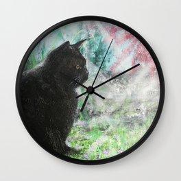 Lulu in the Garden Wall Clock