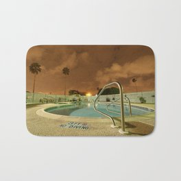Night Poolside Bath Mat