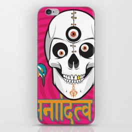 Spinning out of Nothingness iPhone Skin