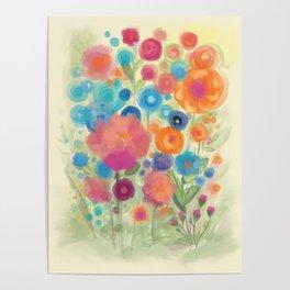 Flower Power Garen by Odette Lager Poster