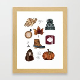 Fall Feelings Framed Art Print