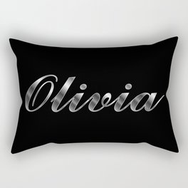 Olivia in Silver Rectangular Pillow