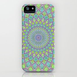 Purple Spirograph Mandala 0118 iPhone Case