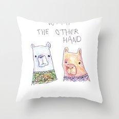 Backhand Bears Throw Pillow