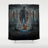 ironman Shower Curtains featuring IRONMAN 3  by Fernando P.