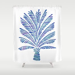 Palm Tree – Navy Palette Shower Curtain