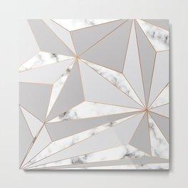 Marble & Geometry 044 Metal Print
