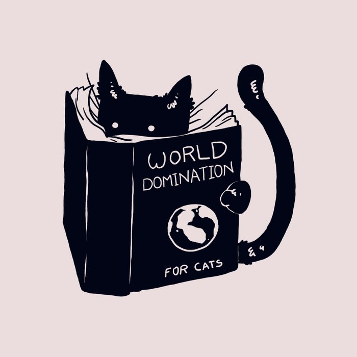 World Domination For Cats Duvet Cover