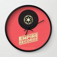 records Wall Clocks featuring Empire Records by mattranzetta