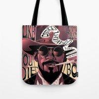 django Tote Bags featuring Django Poster by eos vector