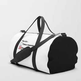 DJ Requests Rave Quote Duffle Bag