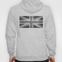 British Union Jack flag 1:2 scale retro grunge Hoody