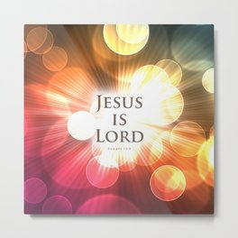 Jesus is Lord - Bible Lock Screens Metal Print