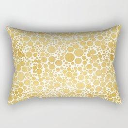 Abstract Metallic Dots Rectangular Pillow
