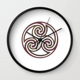 St. Patrick's Day Celtic Red Mandala #5 Wall Clock