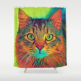 AnimalColor_Cat_ 011_by_JAMColors Shower Curtain