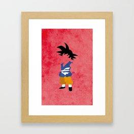Kid Saiyan Framed Art Print