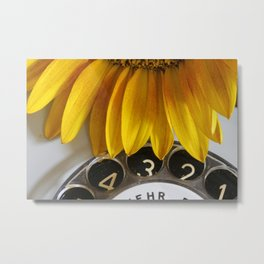 The sunflower on the phone Metal Print