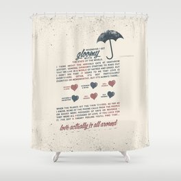 Love Actually Shower Curtain