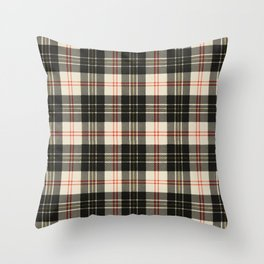 Rustic Plaid Pattern: Red Throw Pillow