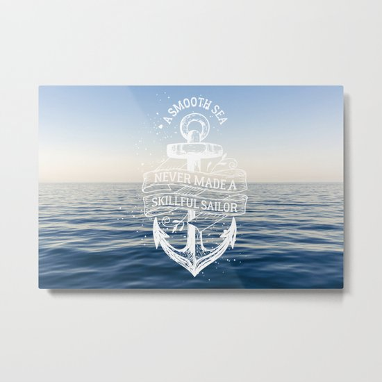 Sea Quote Metal Print
