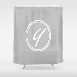 Monogram - Letter Y on Gray Background Shower Curtain