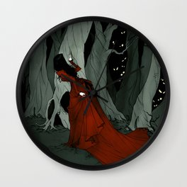 Snow White Lost in the Woods Wall Clock