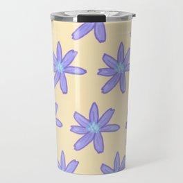 Chicory on Tangerine Travel Mug