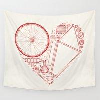 bike Wall Tapestries featuring Love Bike by Florent Bodart / Speakerine