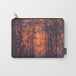 Winter Scene - Frosty Trees Against The Sunset #decor #society6 #homedecor Carry-All Pouch