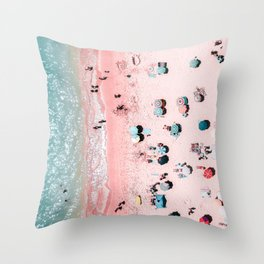 Ocean Print, Beach Print, Wall Decor, Aerial Beach Print, Beach Photography, Bondi Beach Print Throw Pillow