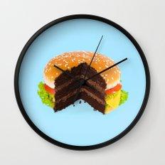 HAMBURGER CAKE Wall Clock