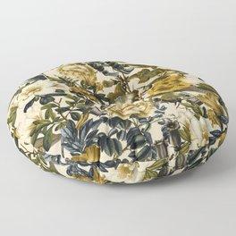 Warm Winter Garden Floor Pillow