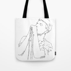 Ian Curtis WordsPortrait Tote Bag